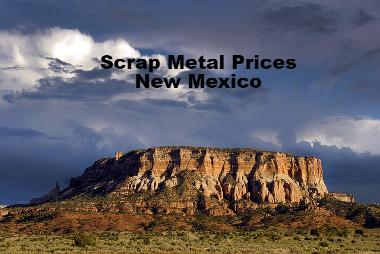 Current Scrap Metal Prices Per Pound lb New Mexico
